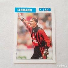 Coleccionismo deportivo: POSTAL LEHMANN - MILÁN, ARSENAL / ALEMANIA (FICHA ONZE MONDIAL). Lote 206216245