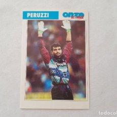 Coleccionismo deportivo: POSTAL PERUZZI - JUVENTUS, LAZIO / ITALIA (FICHA ONZE MONDIAL). Lote 206217030