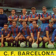 Coleccionismo deportivo: FC BARCELONA - PLANTILLA TEMPORADA 1968/69. Lote 206324313