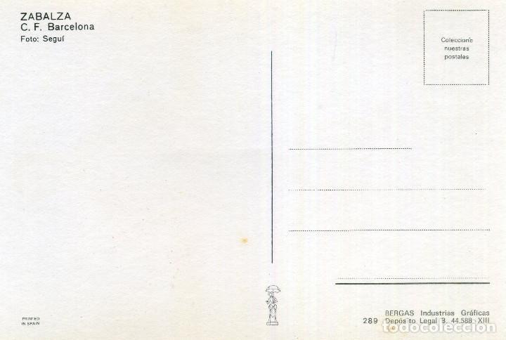 Coleccionismo deportivo: FC BARCELONA - ZABALZA - Foto 2 - 206349955