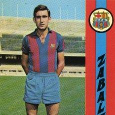 Coleccionismo deportivo: FC BARCELONA - ZABALZA. Lote 206350020