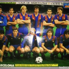 Coleccionismo deportivo: PÓSTER REVERSIBLE BARÇA / MADRID TEMPORADA 84/85 AMBAS CARAS. Lote 206404576