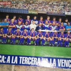 Coleccionismo deportivo: PÓSTER, PRIMERA COPA DE EUROPA BARÇA 1992. Lote 206417861