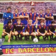 Coleccionismo deportivo: PÓSTER BARÇA CAMPEÓN DE LIGA 84/85. LECTURAS. Lote 206418582