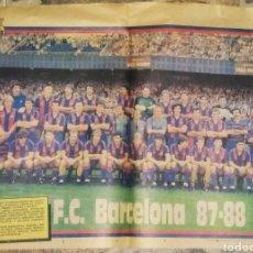 Coleccionismo deportivo: POSTER PLANTILLA F.C.BARCELONA 87/88. PAPEL PERIÓDICO. Lote 206426493