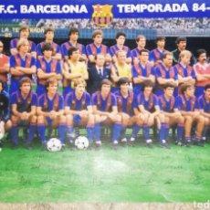 Coleccionismo deportivo: LOTE, 2 PÓSTERS BARÇA 84/85 CAMPEÓN DE LIGA. Lote 206430136