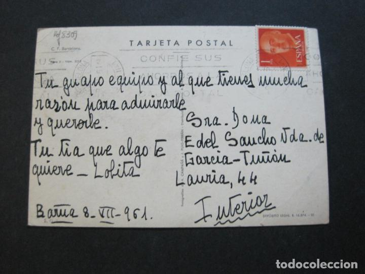 Coleccionismo deportivo: FC BARCELONA-PLANTILLA TEMPORADA 1961-KUBALA-LUIS SUAREZ-RAMALLETS...ETC-POSTAL ANTIGUA-(71.073) - Foto 14 - 206928441