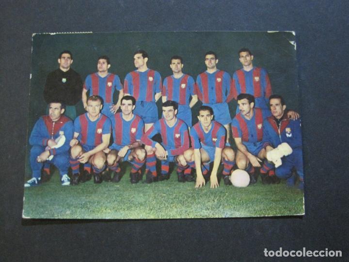 FC BARCELONA-PLANTILLA TEMPORADA 1961-KUBALA-LUIS SUAREZ-RAMALLETS...ETC-POSTAL ANTIGUA-(71.073) (Coleccionismo Deportivo - Postales de Deportes - Fútbol)