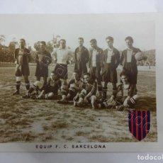 Coleccionismo deportivo: FC. BARCELONA. SERIE COMPLETA 12 POSTALES FOTOGRÁFICAS AÑOS 1920S. ALCANTARA-PIERA-SAMITIER.... Lote 207156411