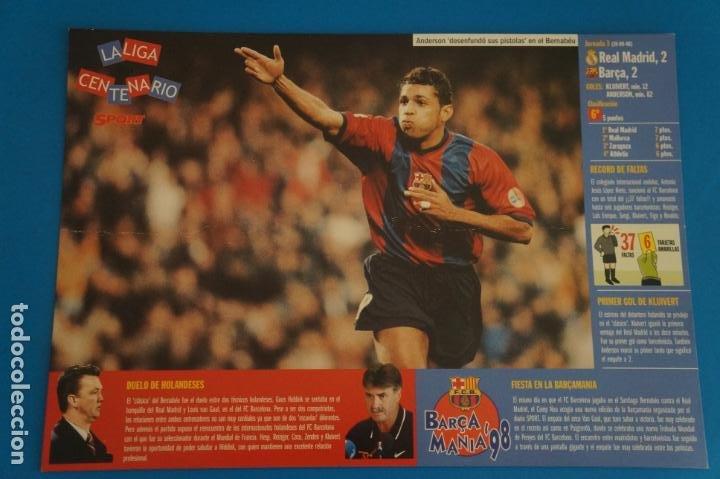 LAMINA DE FUTBOL PARTIDOS DEL F.C.BARCELONA DE DIARIO SPORT (Coleccionismo Deportivo - Postales de Deportes - Fútbol)