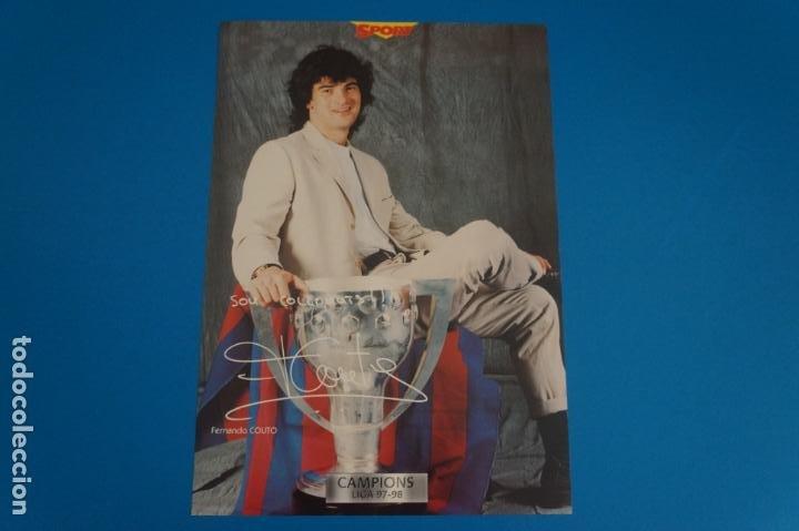 LAMINA DE FUTBOL COUTO DEL F.C.BARCELONA DE DIARIO SPORT (Coleccionismo Deportivo - Postales de Deportes - Fútbol)