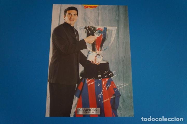 LAMINA DE FUTBOL AMOR DEL F.C.BARCELONA DE DIARIO SPORT (Coleccionismo Deportivo - Postales de Deportes - Fútbol)