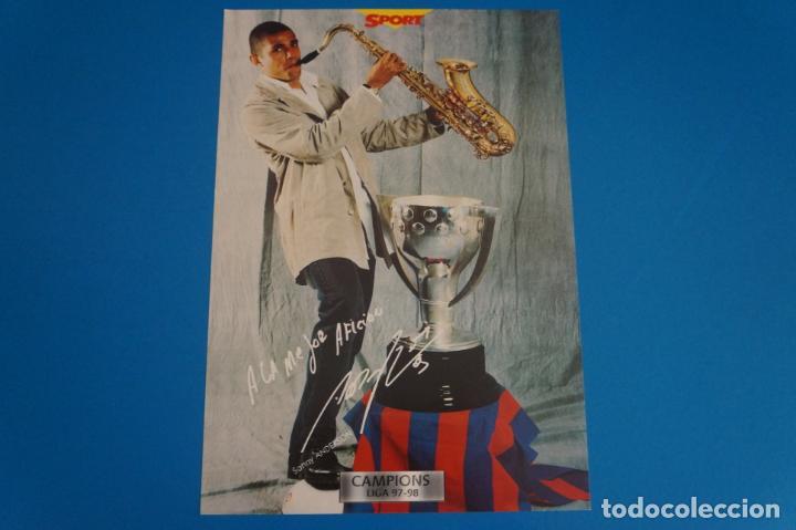 LAMINA DE FUTBOL ANDERSON DEL F.C.BARCELONA DE DIARIO SPORT (Coleccionismo Deportivo - Postales de Deportes - Fútbol)