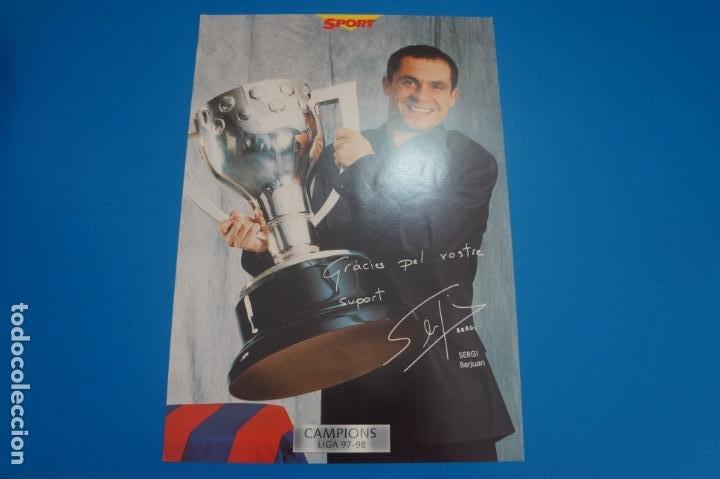 LAMINA DE FUTBOL SERGI DEL F.C.BARCELONA DE DIARIO SPORT (Coleccionismo Deportivo - Postales de Deportes - Fútbol)
