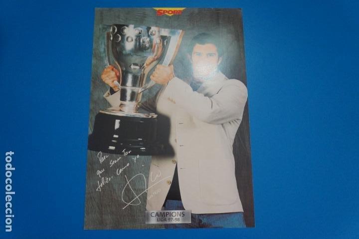 LAMINA DE FUTBOL FIGO DEL F.C.BARCELONA DE DIARIO SPORT (Coleccionismo Deportivo - Postales de Deportes - Fútbol)