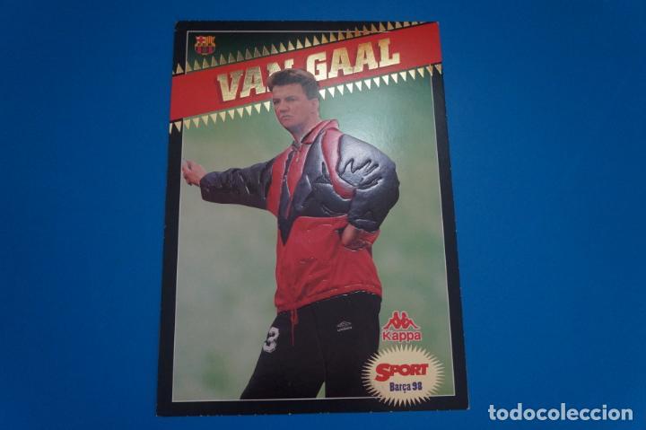 LAMINA DE FUTBOL VAN GAAL DEL F.C.BARCELONA DE DIARIO SPORT (Coleccionismo Deportivo - Postales de Deportes - Fútbol)