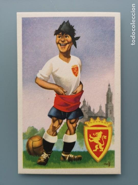 POSTAL EQUIPOS DE FUTBOL SERIE A REAL ZARAGOZA ARAGON ED JUFRAN LIGA MAÑO VIRGEN PILAR PERFECTA CONS (Coleccionismo Deportivo - Postales de Deportes - Fútbol)