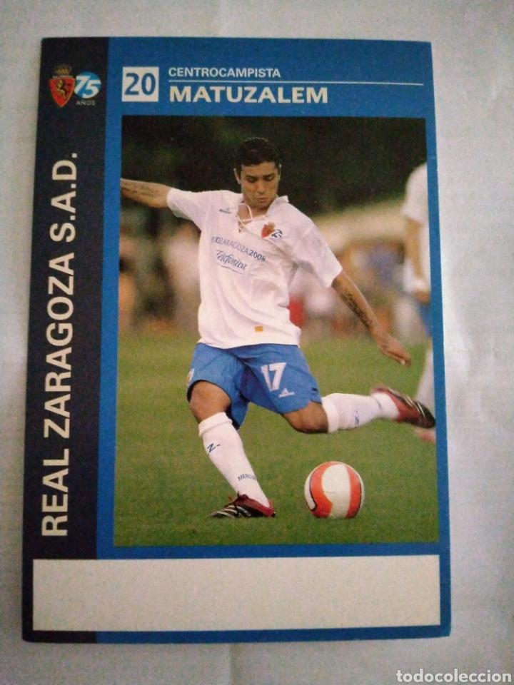 POSTAL REAL ZARAGOZA MATUZALEM (Coleccionismo Deportivo - Postales de Deportes - Fútbol)