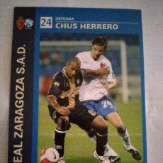 Coleccionismo deportivo: POSTAL REAL ZARAGOZA CHUS HERRERO. Lote 210116785