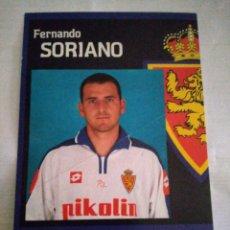 Coleccionismo deportivo: POSTAL REAL ZARAGOZA SORIANO. Lote 210117167