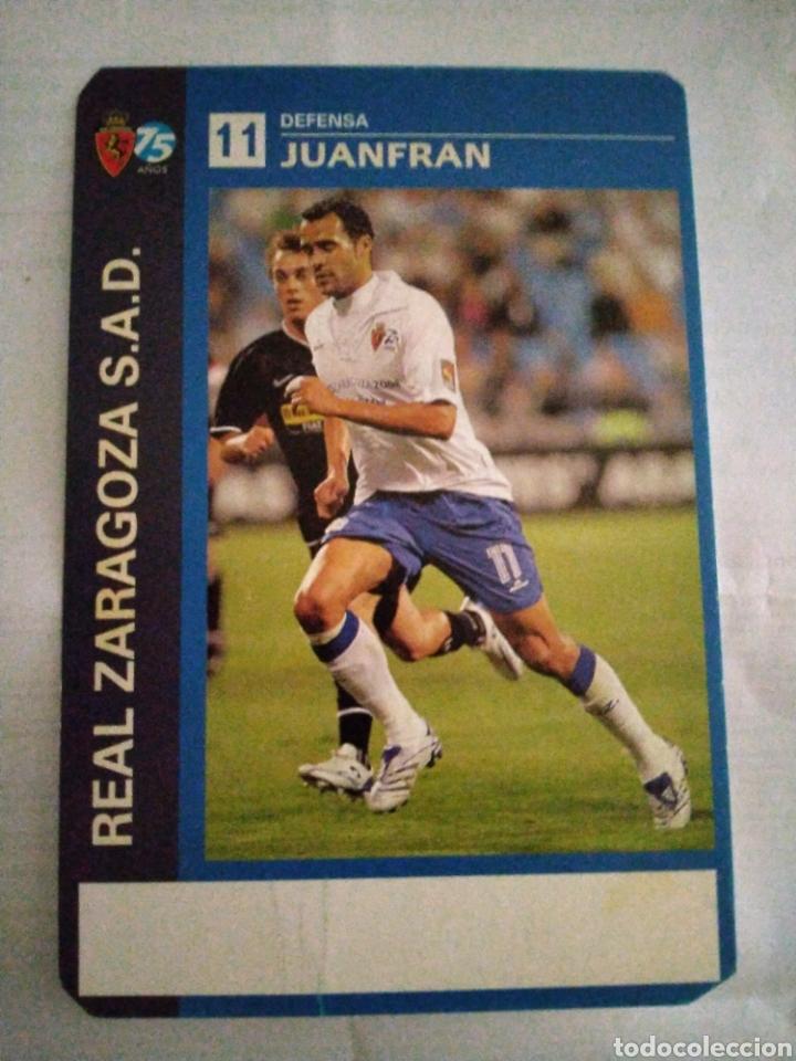 POSTAL REAL ZARAGOZA JUANFRAN (Coleccionismo Deportivo - Postales de Deportes - Fútbol)