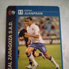Coleccionismo deportivo: POSTAL REAL ZARAGOZA JUANFRAN. Lote 210118127