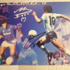 Coleccionismo deportivo: MARADONA FOTO FIRMADA DE PASO POR ALICANTE. Lote 210140580