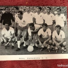 Coleccionismo deportivo: ANTIGUA POSTAL DEL REAL ZARAGOZA AÑOS 60. Lote 210142385