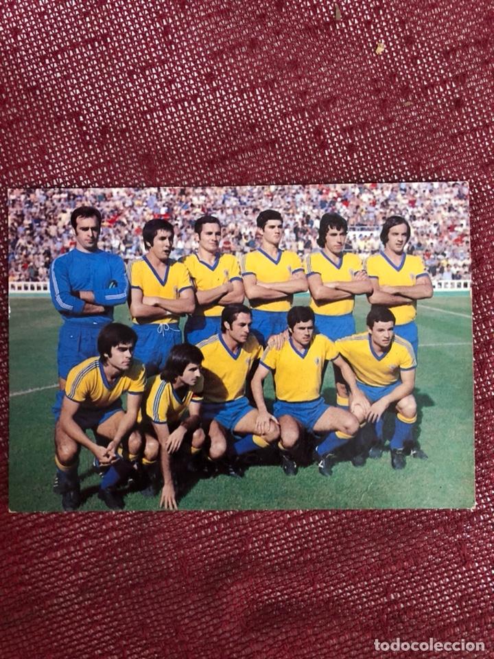 POSTAL DEL CADIZ CF TEMPORADA 1976/77 (Coleccionismo Deportivo - Postales de Deportes - Fútbol)