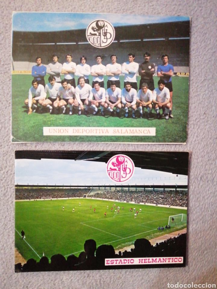 LOTES UNIÓN DEPORTIVA SALAMANCA Y ESTADIO HELMÁNTICO (Coleccionismo Deportivo - Postales de Deportes - Fútbol)