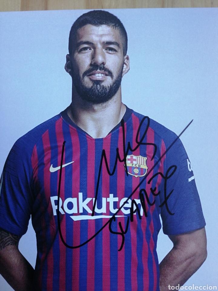 Coleccionismo deportivo: Autografo original Luis Suarez F. C. Barcelona - Foto 2 - 210680740