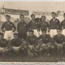 Coleccionismo deportivo: 2 FOTOGRAFIAS ANTIGUAS - EQUIPO DE FUTBOL SIN IDENTIFICAR - (8,5X13,5). Lote 210790119