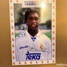 Coleccionismo deportivo: POSTAL REAL MADRID SEEDORF. Lote 211396450