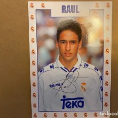 Coleccionismo deportivo: POSTAL REAL MADRID RAUL. Lote 211396566