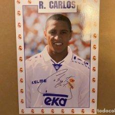 Coleccionismo deportivo: POSTAL REAL MADRID ROBERTO CARLOS. Lote 211396607