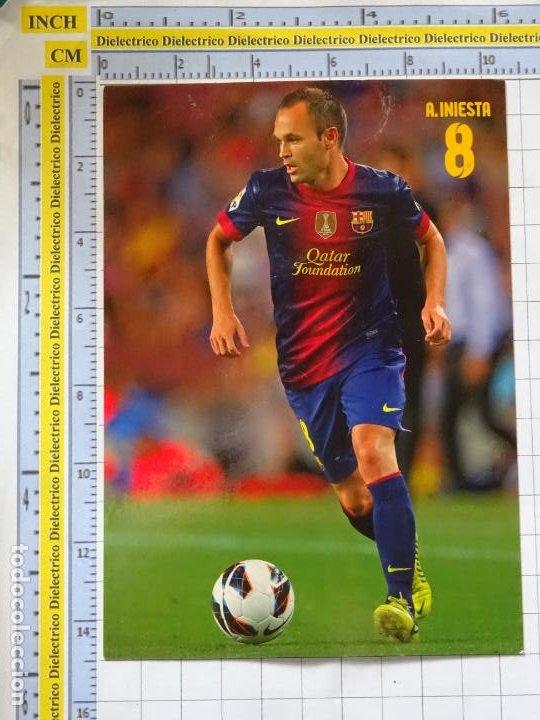 POSTAL DE DEPORTES. FÚTBOL CLUB BARCELONA. 8 ANDRES INIESTA. 2170 (Coleccionismo Deportivo - Postales de Deportes - Fútbol)
