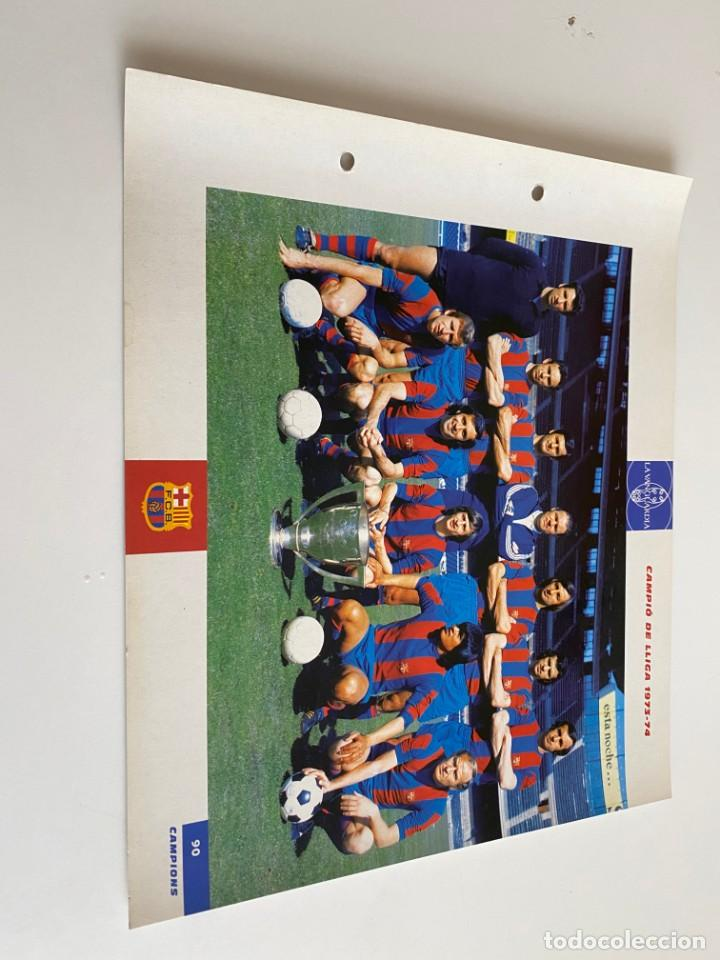 LAMINA DE FUTBOL CLUB BARCELONA EL GRAN ALBUM DEL BARCA LA VANGUARDIA Nº90 CAMPIÓ DE LLIGA (Coleccionismo Deportivo - Postales de Deportes - Fútbol)
