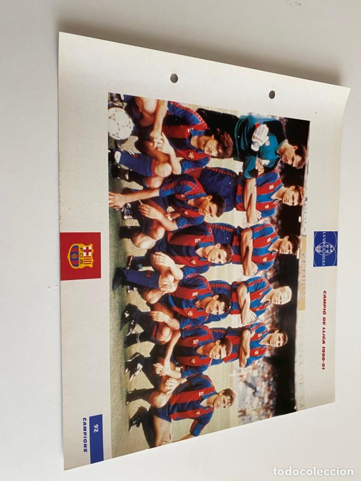 LAMINA DE FUTBOL CLUB BARCELONA EL GRAN ALBUM DEL BARCA LA VANGUARDIA Nº92 CAMPIÓ DE LLIGA (Coleccionismo Deportivo - Postales de Deportes - Fútbol)