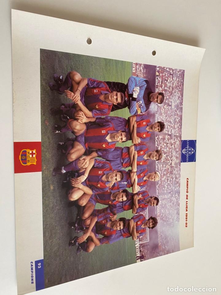 LAMINA DE FUTBOL CLUB BARCELONA EL GRAN ALBUM DEL BARCA LA VANGUARDIA Nº93 CAMPIÓ DE LLIGA (Coleccionismo Deportivo - Postales de Deportes - Fútbol)