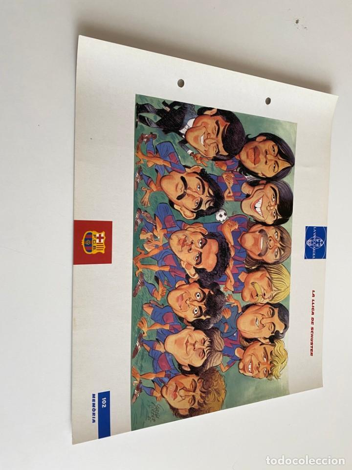 LAMINA DE FUTBOL CLUB BARCELONA EL GRAN ALBUM DEL BARCA LA VANGUARDIA Nº102 LA LLIGA DE SCHUSTER (Coleccionismo Deportivo - Postales de Deportes - Fútbol)