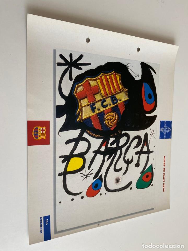 LAMINA DE FUTBOL CLUB BARCELONA EL GRAN ALBUM DEL BARCA LA VANGUARDIA Nº103 NOCES DE PLATÍ (Coleccionismo Deportivo - Postales de Deportes - Fútbol)