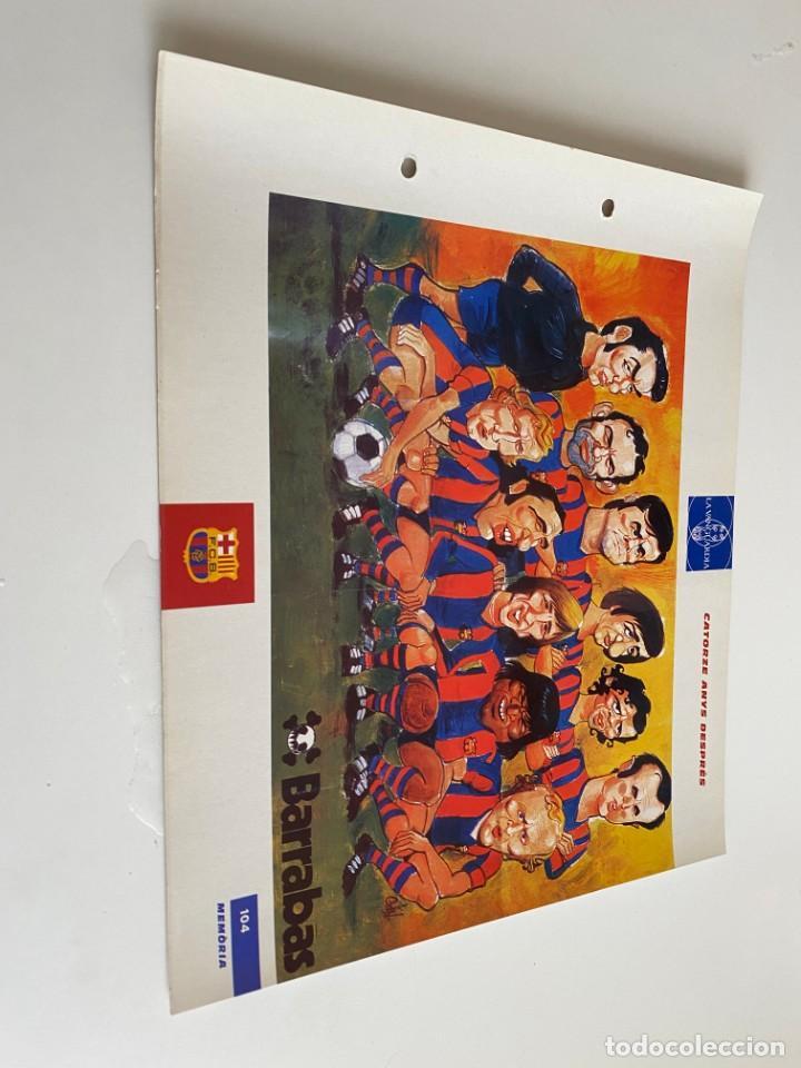LAMINA DE FUTBOL CLUB BARCELONA EL GRAN ALBUM DEL BARCA LA VANGUARDIA Nº104 CATORZE ANYS DESPRÉS (Coleccionismo Deportivo - Postales de Deportes - Fútbol)