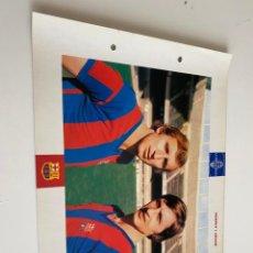 Coleccionismo deportivo: LAMINA DE FUTBOL CLUB BARCELONA EL GRAN ALBUM DEL BARCA LA VANGUARDIA Nº105 CHARLE I JOHAN. Lote 211795495