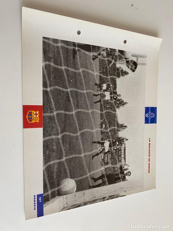 LAMINA DE FUTBOL CLUB BARCELONA EL GRAN ALBUM DEL BARCA LA VANGUARDIA Nº107 LA MADLICIÓ DE BERNA (Coleccionismo Deportivo - Postales de Deportes - Fútbol)