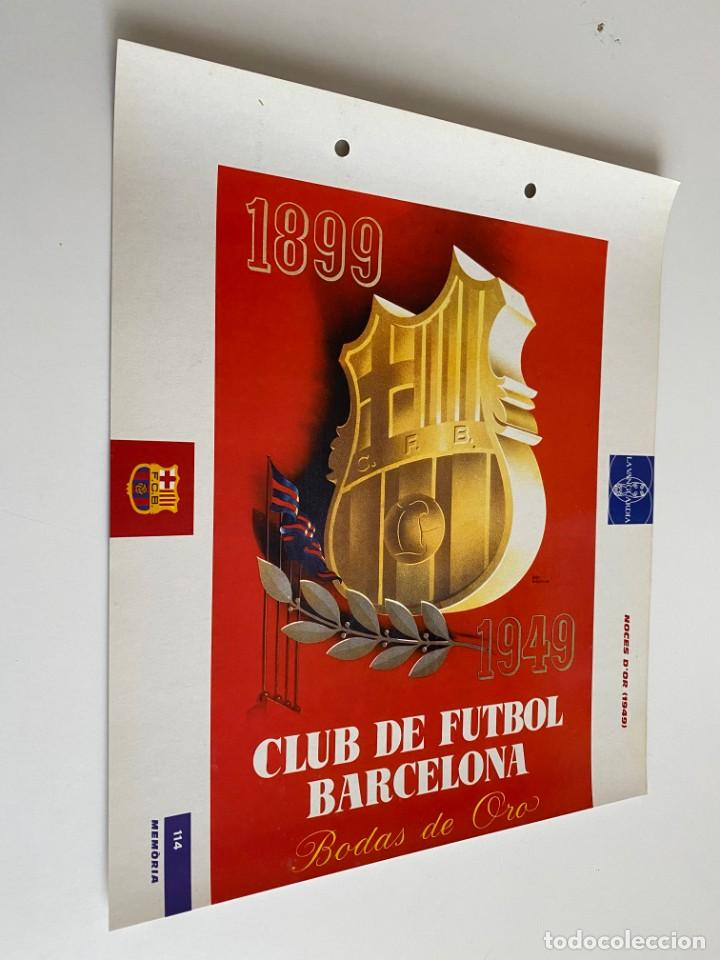 LAMINA DE FUTBOL CLUB BARCELONA EL GRAN ALBUM DEL BARCA LA VANGUARDIA Nº114 NOCES D`OR (Coleccionismo Deportivo - Postales de Deportes - Fútbol)