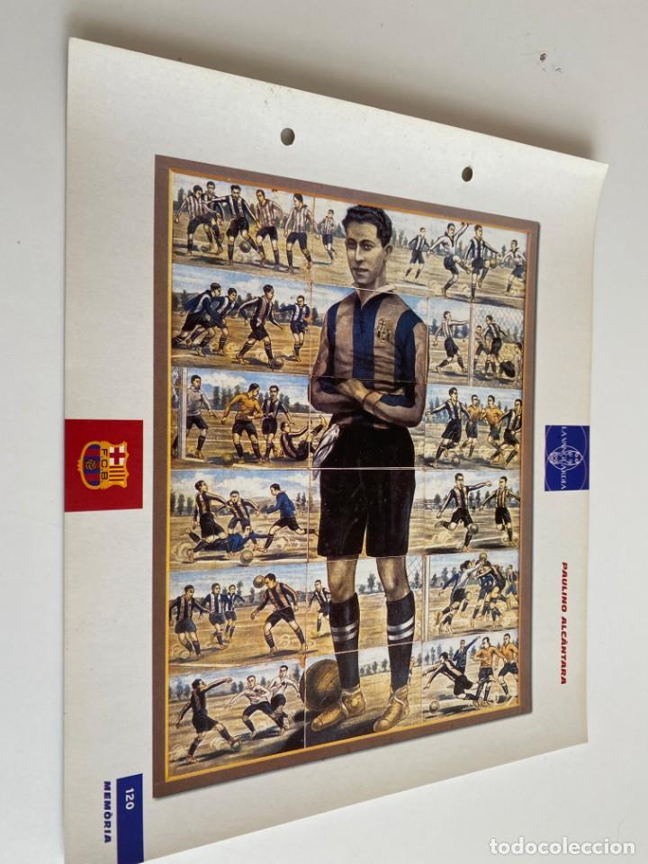 LAMINA DE FUTBOL CLUB BARCELONA EL GRAN ALBUM DEL BARCA LA VANGUARDIA Nº120 PAULINO ALCANTARA (Coleccionismo Deportivo - Postales de Deportes - Fútbol)