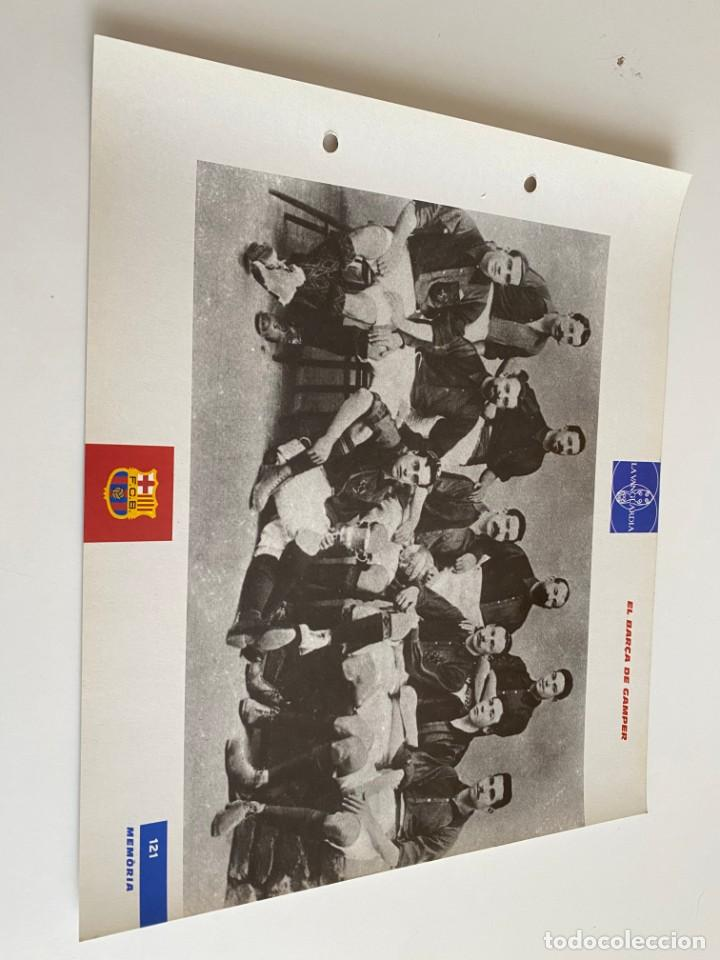 LAMINA DE FUTBOL CLUB BARCELONA EL GRAN ALBUM DEL BARCA LA VANGUARDIA Nº121 EL BARCA DE GAMPER (Coleccionismo Deportivo - Postales de Deportes - Fútbol)