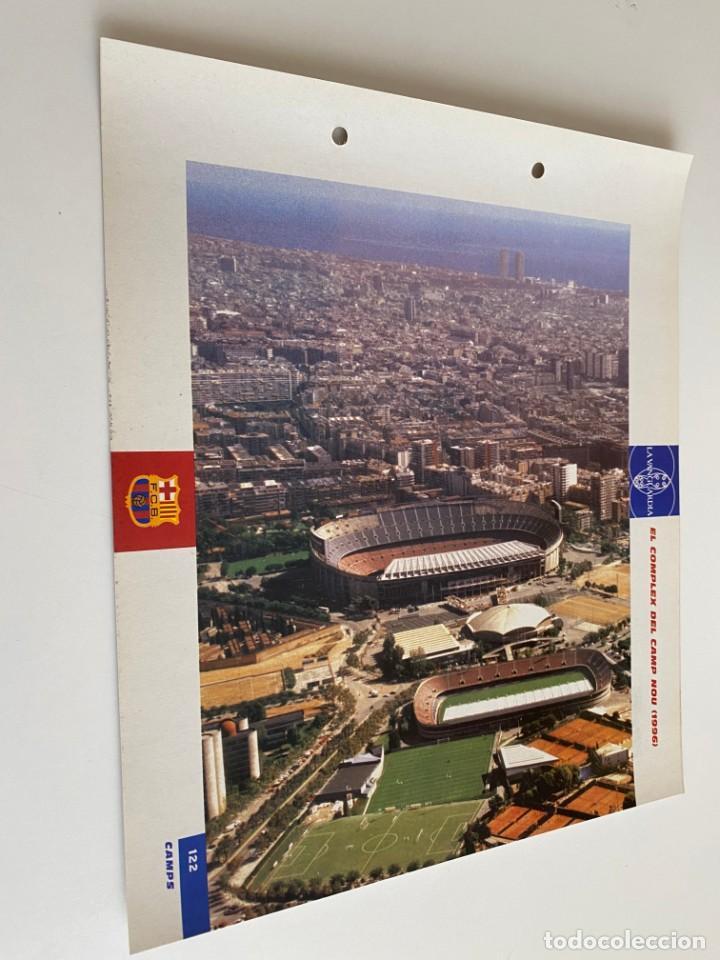 LAMINA DE FUTBOL CLUB BARCELONA EL GRAN ALBUM DEL BARCA LA VANGUARDIA Nº122 WL COMPLEX DEL CAMP NOU (Coleccionismo Deportivo - Postales de Deportes - Fútbol)