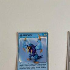 Coleccionismo deportivo: CAJ-X1L2 CROMO FICHA INVIZIMALS PANINI SABRETOOTH. Lote 211804603