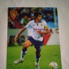 Collectionnisme sportif: POSTAL REAL ZARAGOZA JESÚS VALLEJO. Lote 212610808